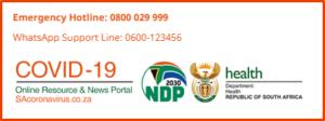 SA Government Covid-19 portal